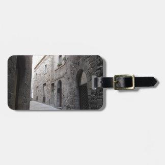 Hidden alley in Volterra village, province of Pisa Luggage Tag
