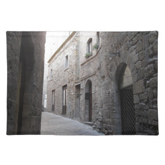 Hidden alley in Volterra village, province of Pisa Placemat