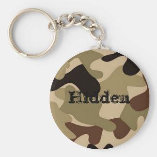Hidden Basic Round Button Key Ring
