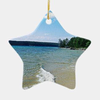Hidden beach ceramic star decoration