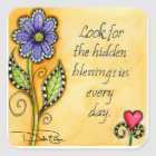 Hidden Blessings Square Sticker