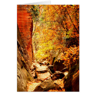 Hidden Canyon, Blank All Occasion Greeting Card