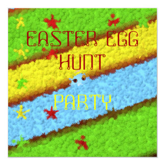 Hidden Easter Egg Woman Hunt 13 Cm X 13 Cm Square Invitation Card
