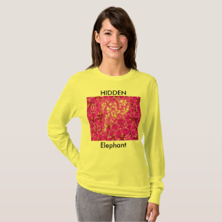 Hidden Elephant Flower T-Shirt