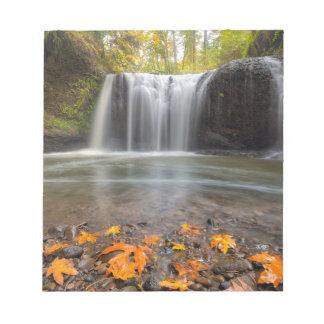 Hidden Falls in Clackamas Oregon fall season Notepad