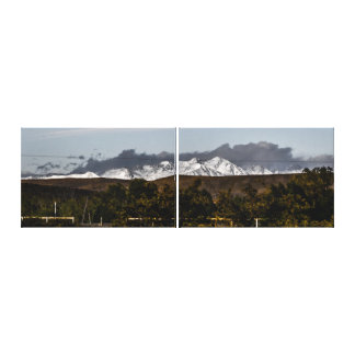 Hidden Far-Away Mountains Behind Close Hills Canvas Print