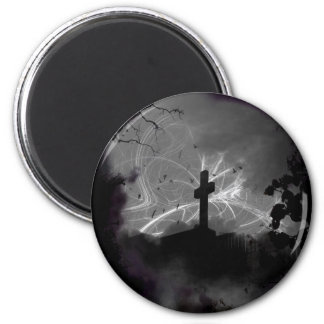 Hidden Grave Large Round Magnet