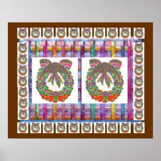 Hidden Jewels n Diamond Wreath : ENJOY n share JOY Print