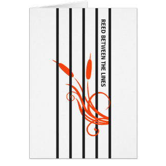 Hidden message stripes card