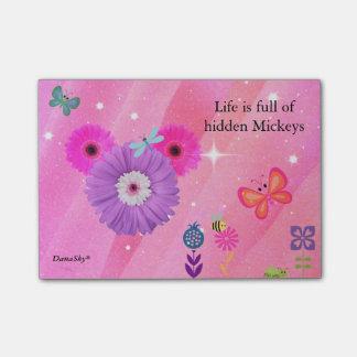 HIDDEN MICKEY spring flower POST IT Post-it Notes