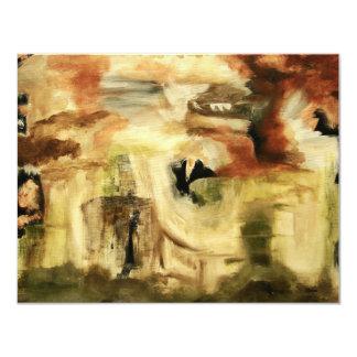 Hidden Places From Original Art Painting 11 Cm X 14 Cm Invitation Card