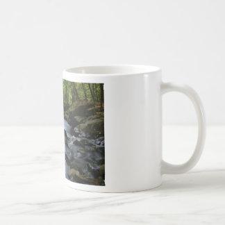 hidden stream in forest coffee mug
