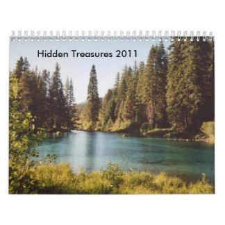 Hidden Treasures 2011 Calendars