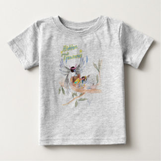 """Hidden Treasures"" Baby Fine Jersey T shirt Grey"