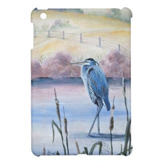Hidden Valley Blue Heron Pastel Acrylic Art iPad Mini Cases