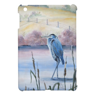 Hidden Valley Blue Heron Pastel Acrylic Art iPad Mini Cover
