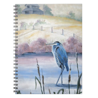 Hidden Valley Blue Heron Pastel Acrylic Art Notebook