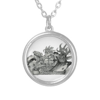 Hidden Wallow Hot Tub Silver Plated Necklace