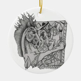 Hidden Wallow Ringo The Horse Ceramic Ornament