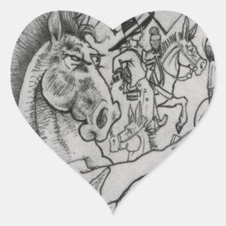 Hidden Wallow Ringo The Horse Heart Sticker