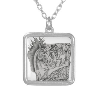 Hidden Wallow Ringo The Horse Silver Plated Necklace