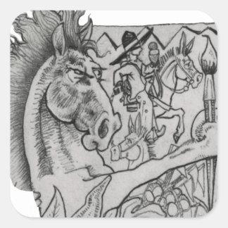 Hidden Wallow Ringo The Horse Square Sticker