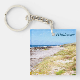 Hiddensee Single-Sided Square Acrylic Key Ring