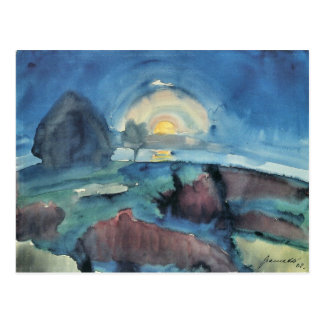 Hiddensoe (moon stairway) by Walter Gramatte Postcard