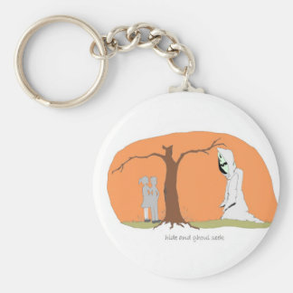 Hide and Ghoul Seek Basic Round Button Key Ring