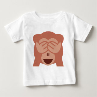 Hide and seek Emoji Monkey Baby T-Shirt