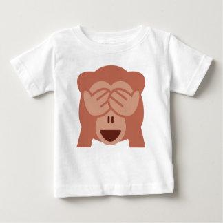 Hide and seek Emoji Monkey Baby T-Shirt
