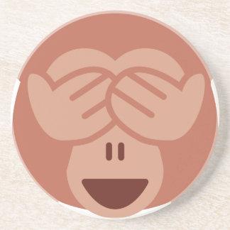 Hide and seek Emoji Monkey Drink Coaster