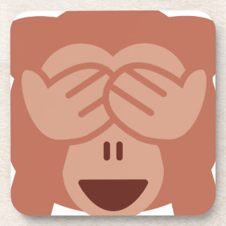 Hide and seek Emoji Monkey Drink Coaster