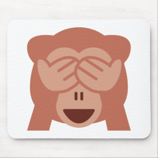 Hide and seek Emoji Monkey Mouse Pad