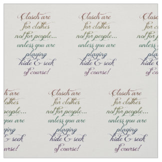 Hide and Seek Rainbow Quote Fabric Cotton Twill