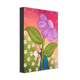 Hide & Seek - 11x14 Flower Fairy Girls Kids Art Canvas Print