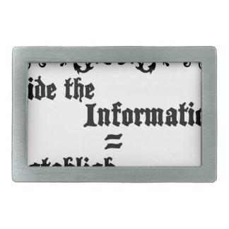 Hide The Information Establish Education Belt Buckle