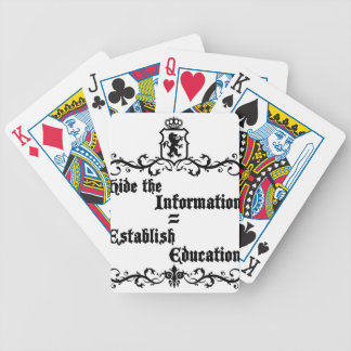 Hide The Information Establish Education Bicycle Playing Cards