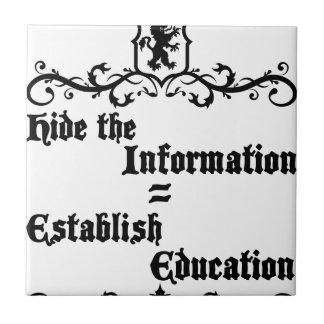 Hide The Information Establish Education Ceramic Tile