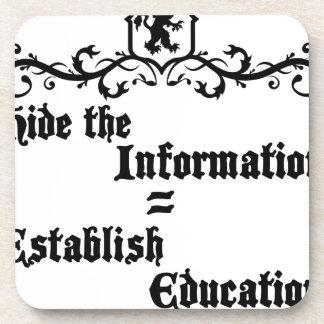 Hide The Information Establish Education Coaster