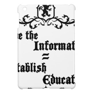 Hide The Information Establish Education iPad Mini Cover