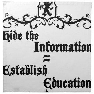 Hide The Information Establish Education Napkin