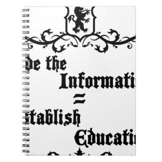 Hide The Information Establish Education Notebooks