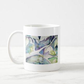 … hides coffee mug