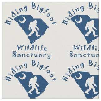Hiding Bigfoot Wildlife Sanctuary Fabric