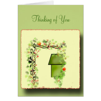 Hiding in the Ivy Greeting Card