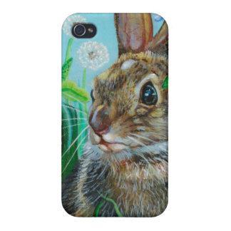 """Hiding Places"" Rabbit IPhone4  by Kathi Dugan iPhone 4 Cases"
