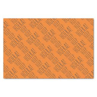 Hiep Hiep Hoera Orange Balloon Dutch Birthday Tissue Paper