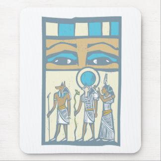 Hieroglyph Eyes Mouse Pad