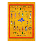 "Hieroglyphic Party 5"" X 7"" Invitation Card"